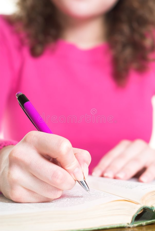writing royaltyfri bild