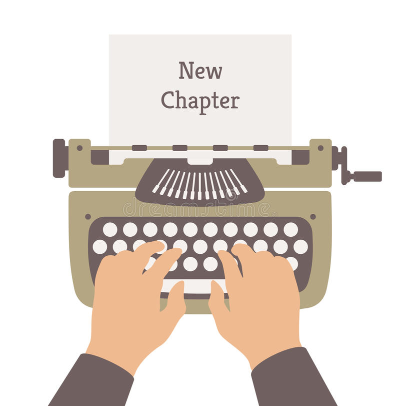 Free Writing A New Story Flat Illustration Royalty Free Stock Photography - 38055867