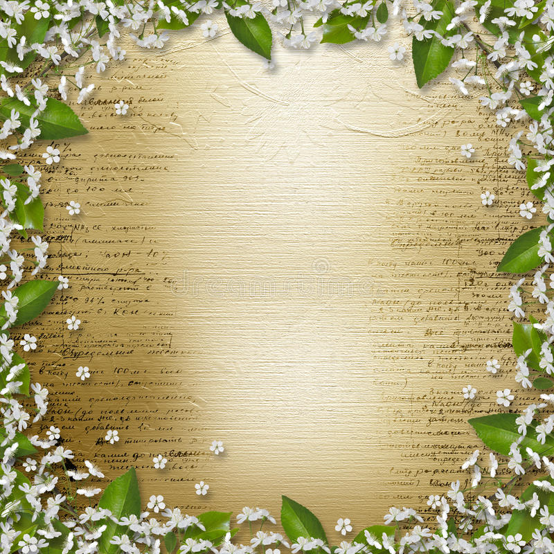 Download Writing Abstract Background With Frame Floral Stock Illustration - Image: 20817233