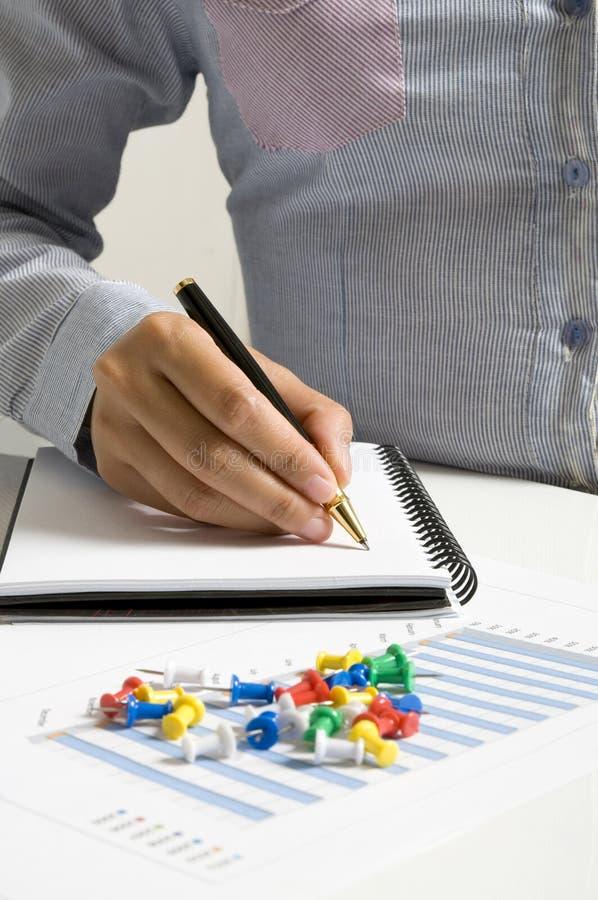 Writing On Agenda stock images