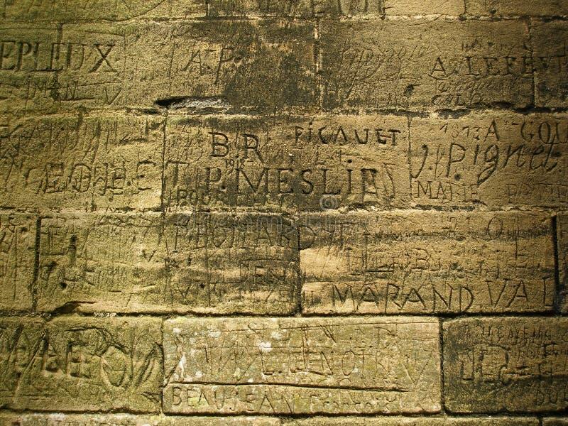 Writing - Ancient Graffiti stock photo