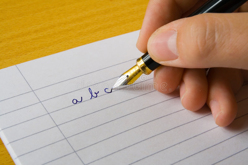 Writing arm stock photography