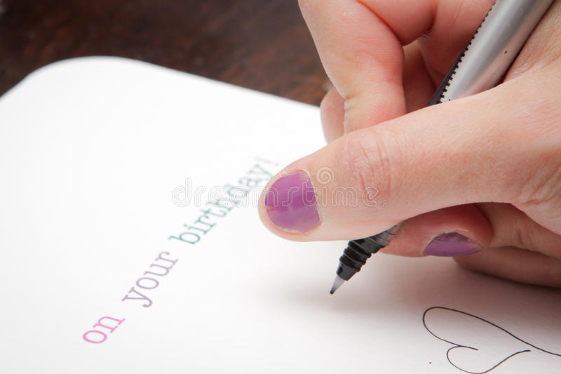 Writing Birthday Card Photo Image 33837900 – Writing Birthday Greetings