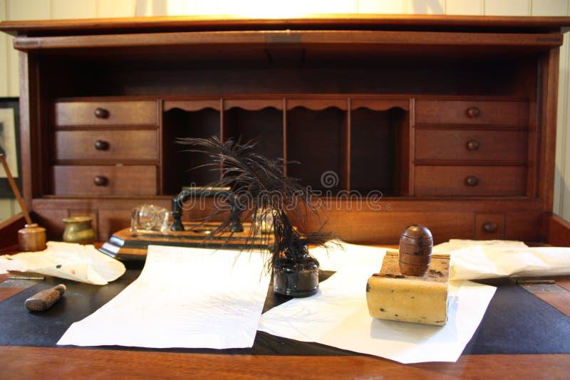 Writing biurko obraz stock