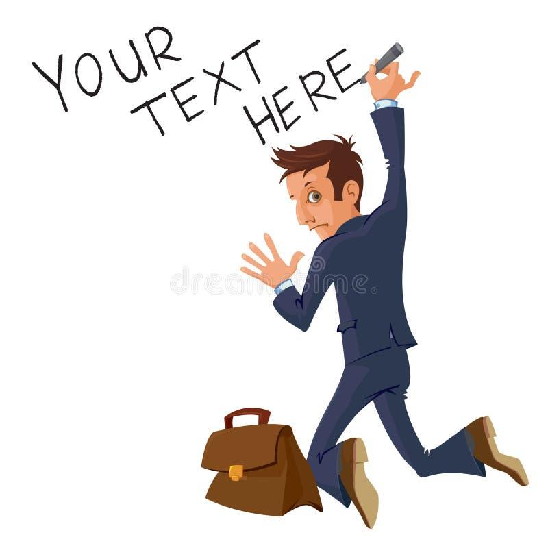 Writing biznesmen ilustracja wektor