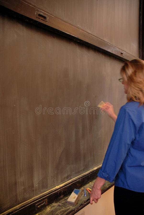Writing on Blackboard royalty free stock photography