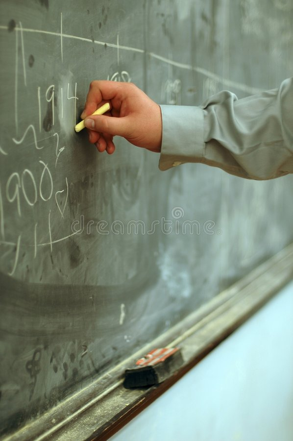 Writing on Blackboard royalty free stock image