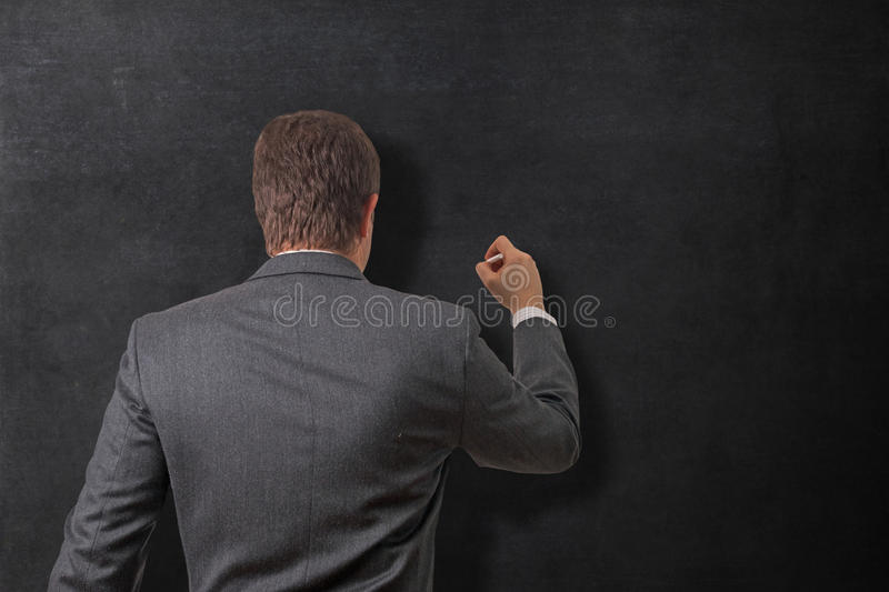 Writing on the board stock photo