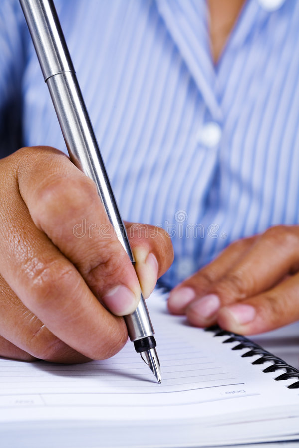 Download Writing On Book Using Fountain Pen Stock Photo - Image of writing, hand: 7839490