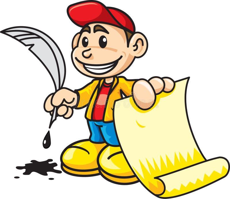 Download Writing boy stock vector. Illustration of cartoon, toon - 10714020