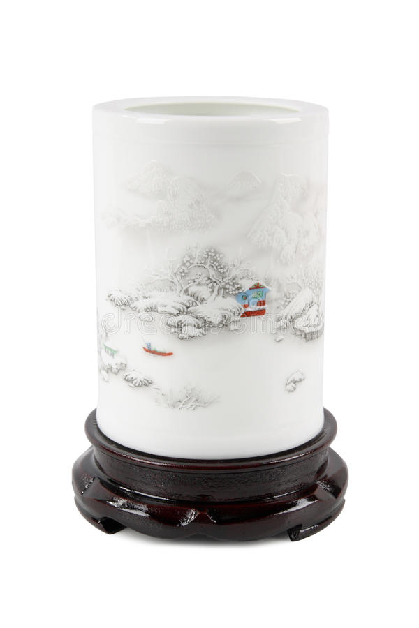 Writing brush pot. Chinese traditional stationery,writing brush pot stock images