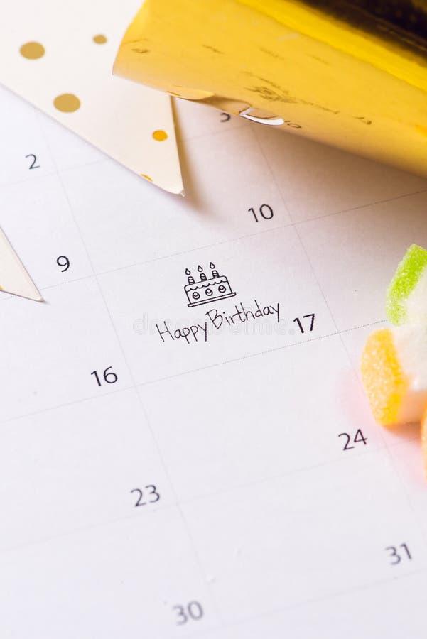 writing cake calendar happy birthday