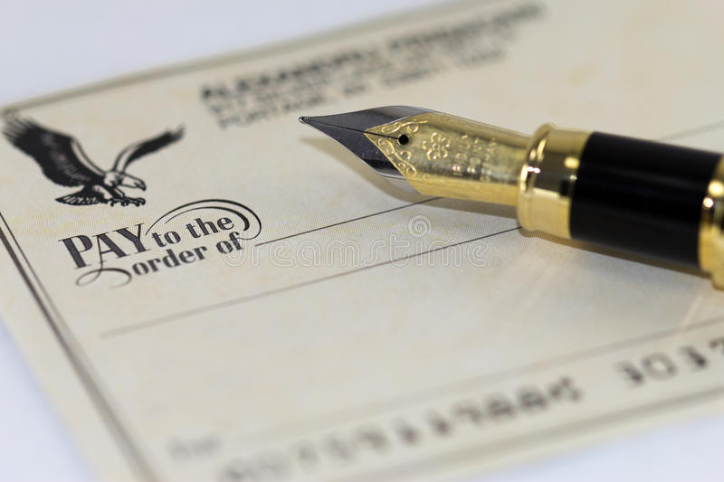Download Writing a check stock image. Image of deposit, paper - 26533147