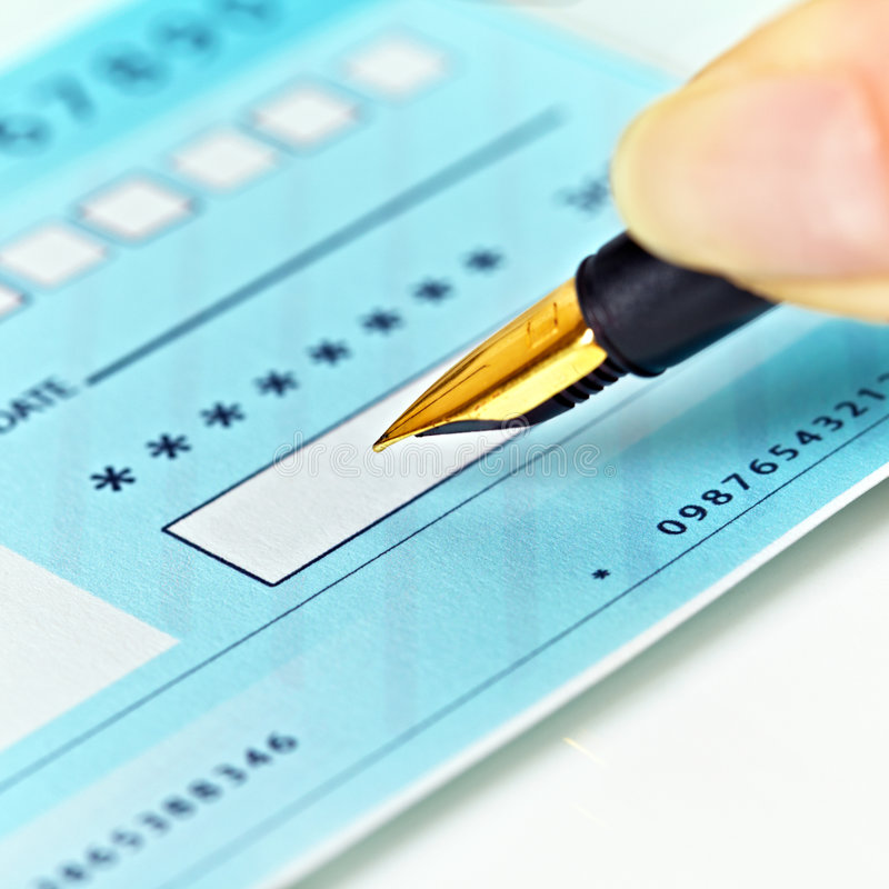 Download Writing Checks stock photo. Image of contract, numbers - 8393054