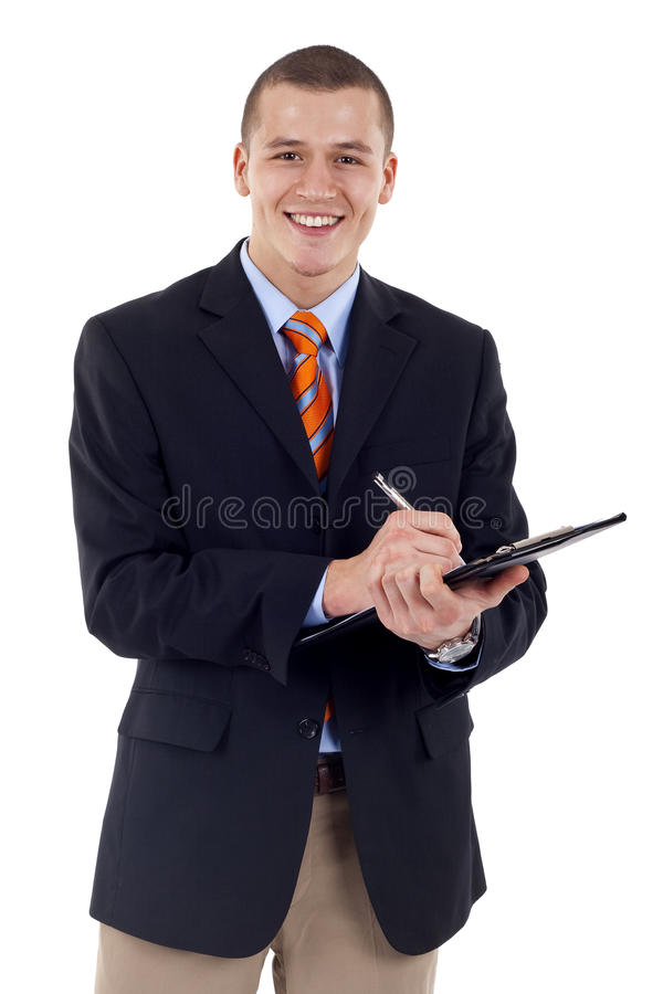 Writing on clipboard stock image