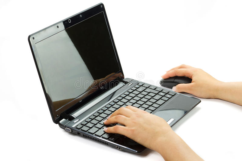 Download Writing on computer stock image. Image of focus, keyboard - 19732417