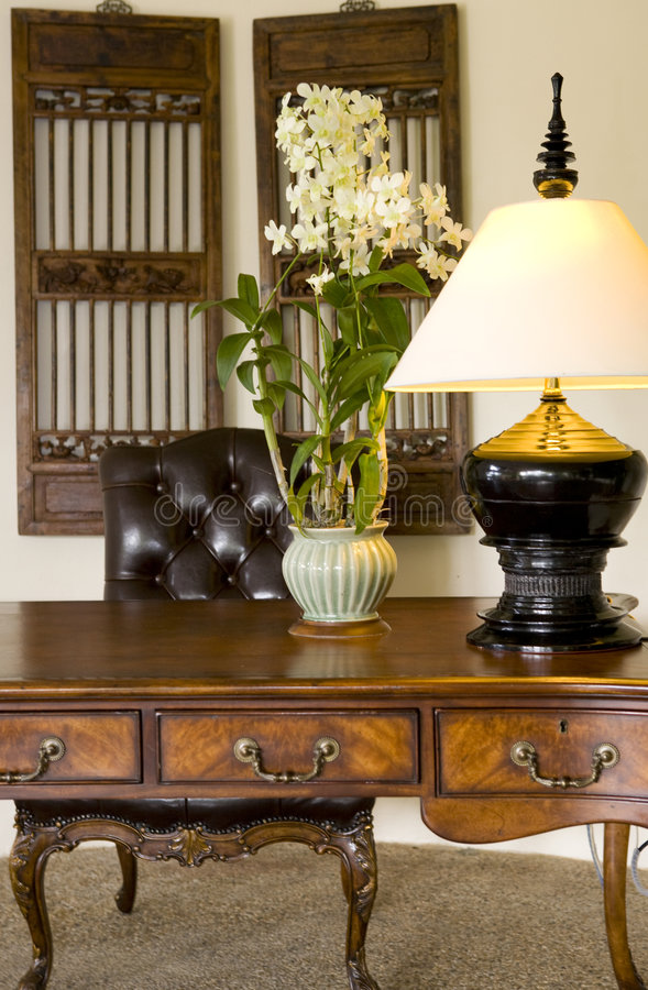 Download Writing desk and chair stock image. Image of traditional - 8616709