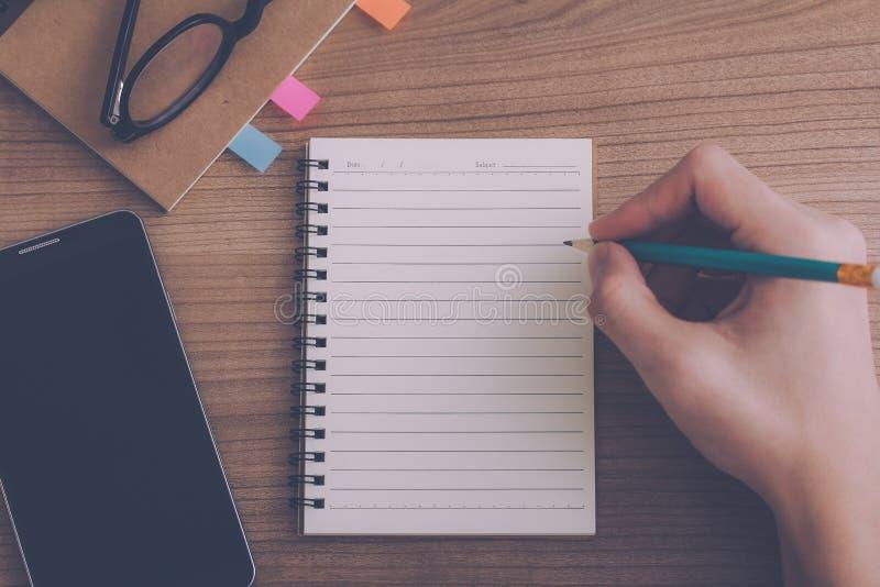 Writing a diary royalty free stock photos