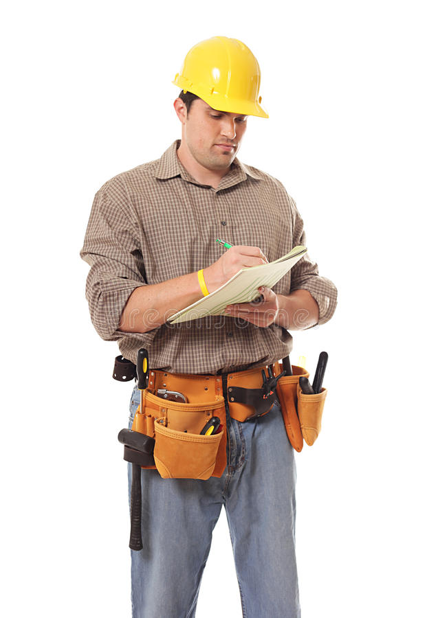 Download Writing it down stock image. Image of builder, occupation - 15595933