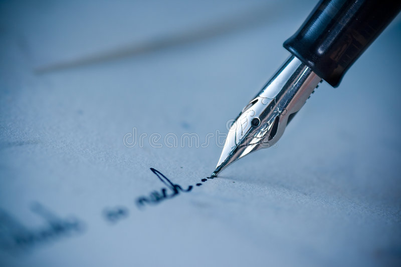 Writing on the Envelope royalty free stock photo
