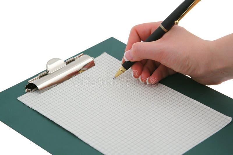 Writing För 2 Hand Arkivbild