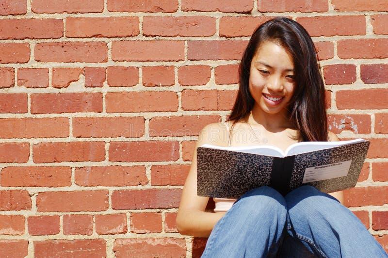 writing för bokflickaanmärkning arkivfoto
