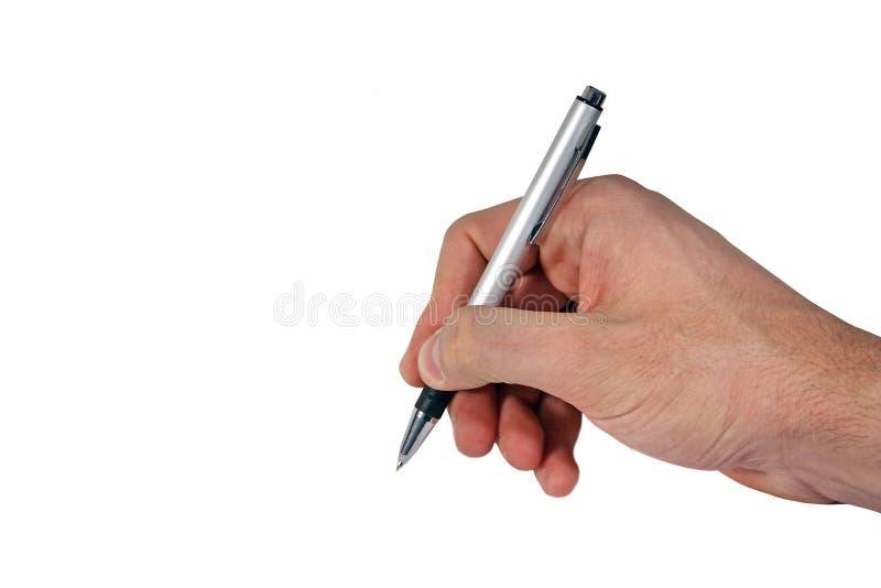 Writing hand stock photo