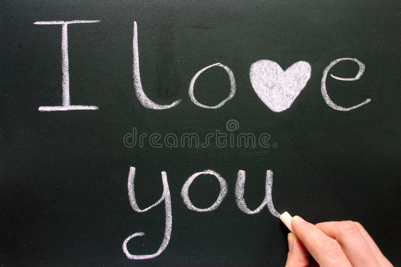 Writing I Love You. Stock Images