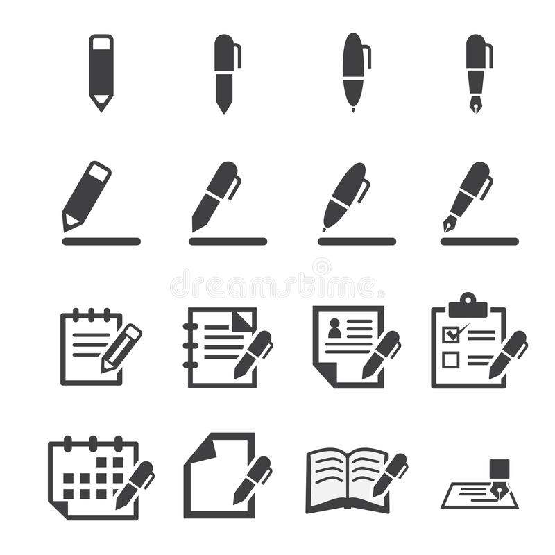 Free Writing Icon Stock Photography - 46956732
