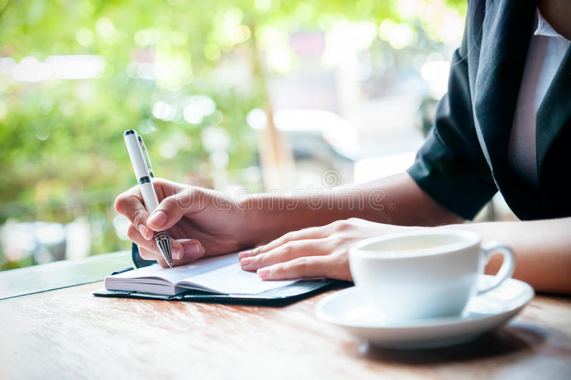 Writing a journal royalty free stock photos