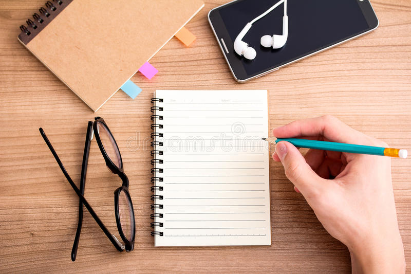 Writing a journal stock photography