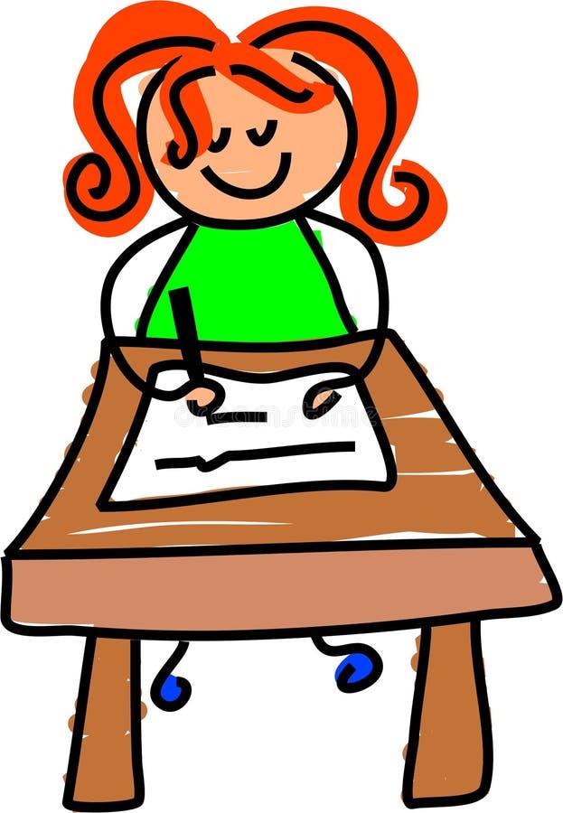 Writing kid vector illustration