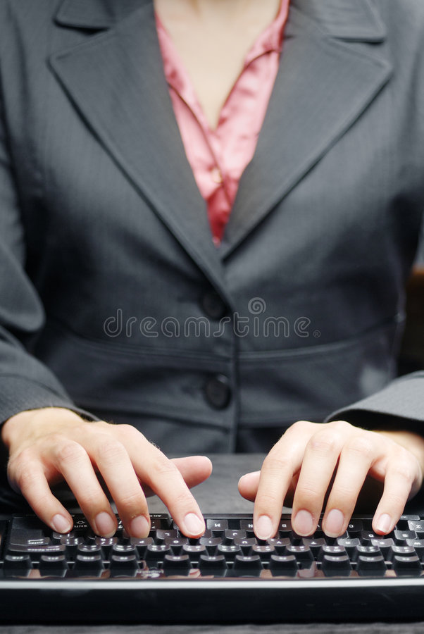 Writing Lady Royalty Free Stock Image
