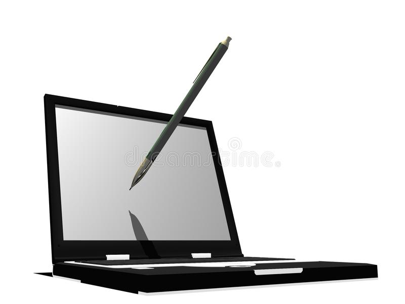 Download Writing on the laptop stock illustration. Image of blogging - 11551770