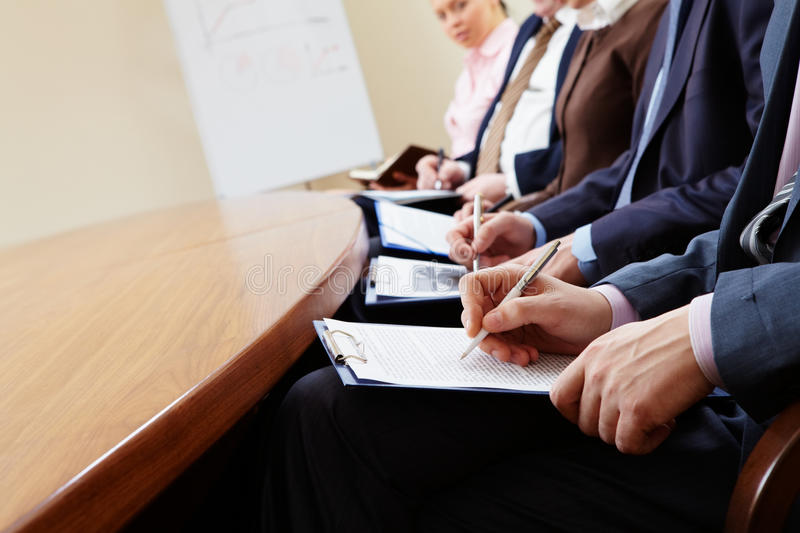 Download Writing lecture stock photo. Image of ballpoint, corporate - 13596756