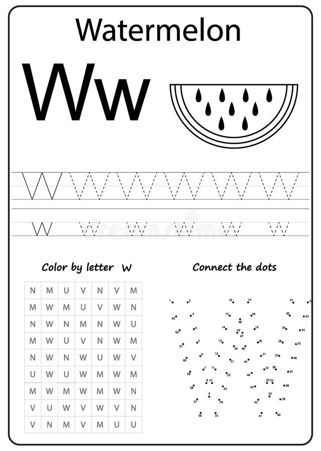 Writing Letter V  Worksheet  Writing A-Z, Alphabet, Exercises Game