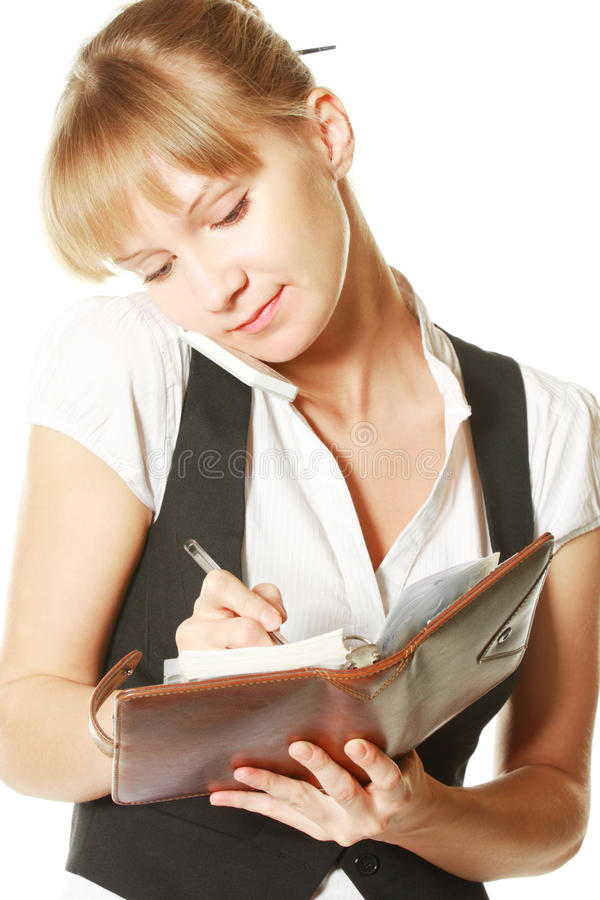 Download Writing and listening stock image. Image of cellular - 11414305