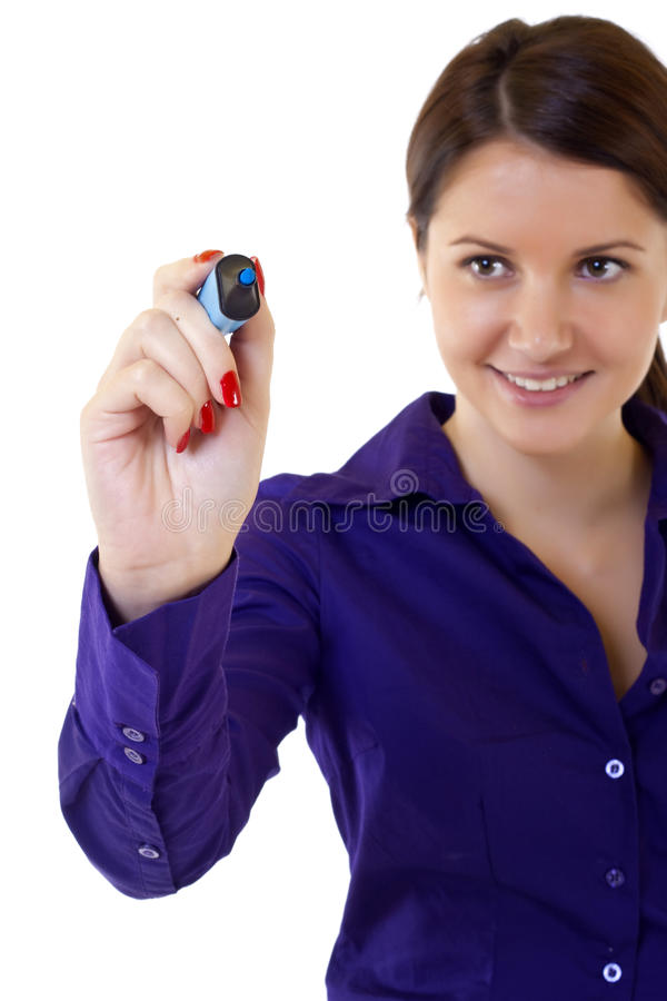 Download Writing with marker stock photo. Image of isolated, marker - 12759636