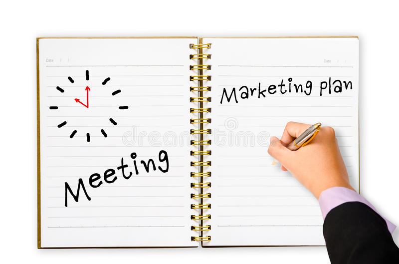 Writing Meeting Marketing Plan Stock Image  Image Of Diverse