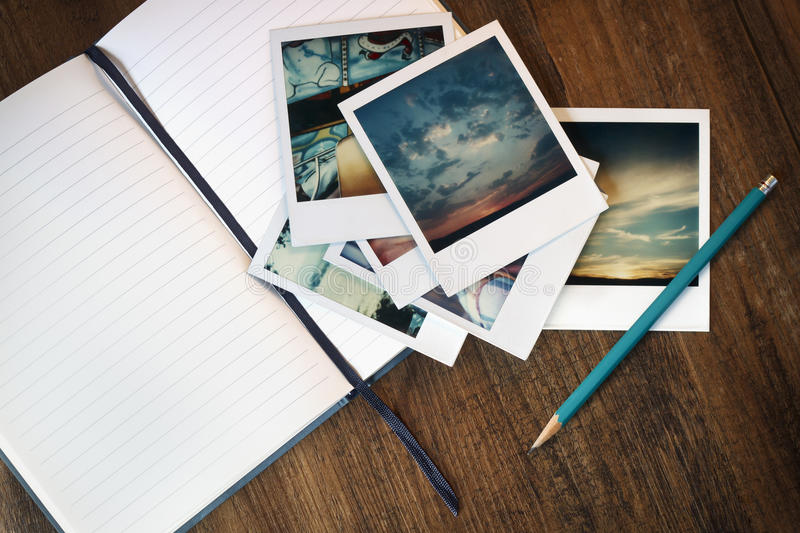 Writing about Memories stock photo
