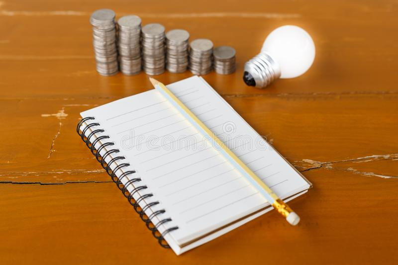 Writing for Money Idea royalty free stock photography