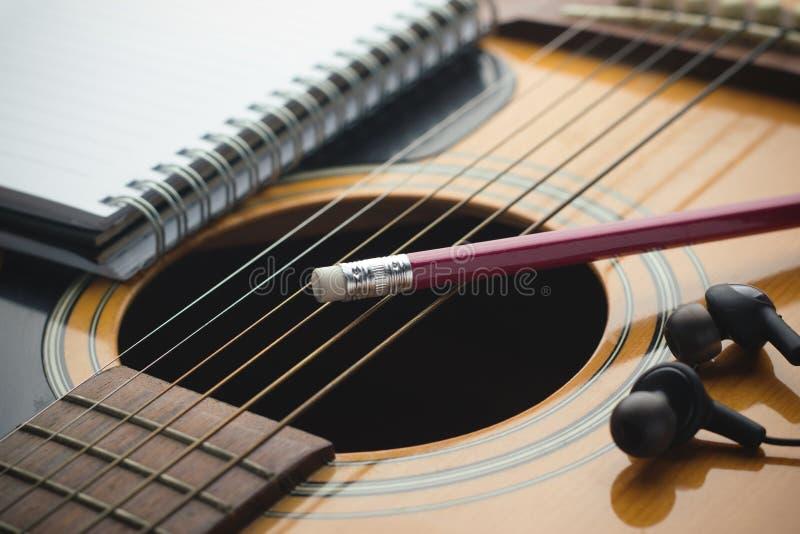 Writing muzyka zdjęcia stock