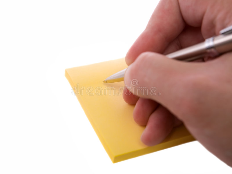 Download Writing a note. stock photo. Image of supply, sticky, memo - 3656330