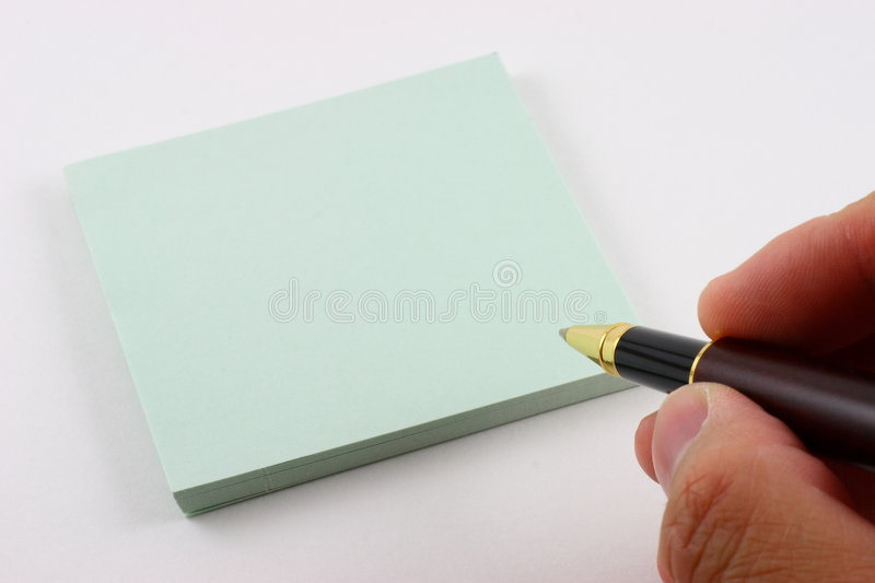 About to write on post it note royalty free stock images