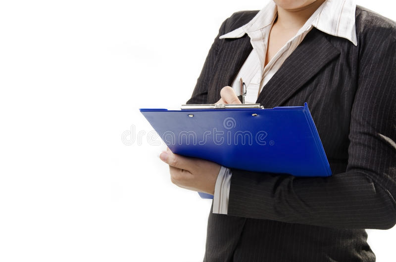 Writing On Note Pad Royalty Free Stock Photo
