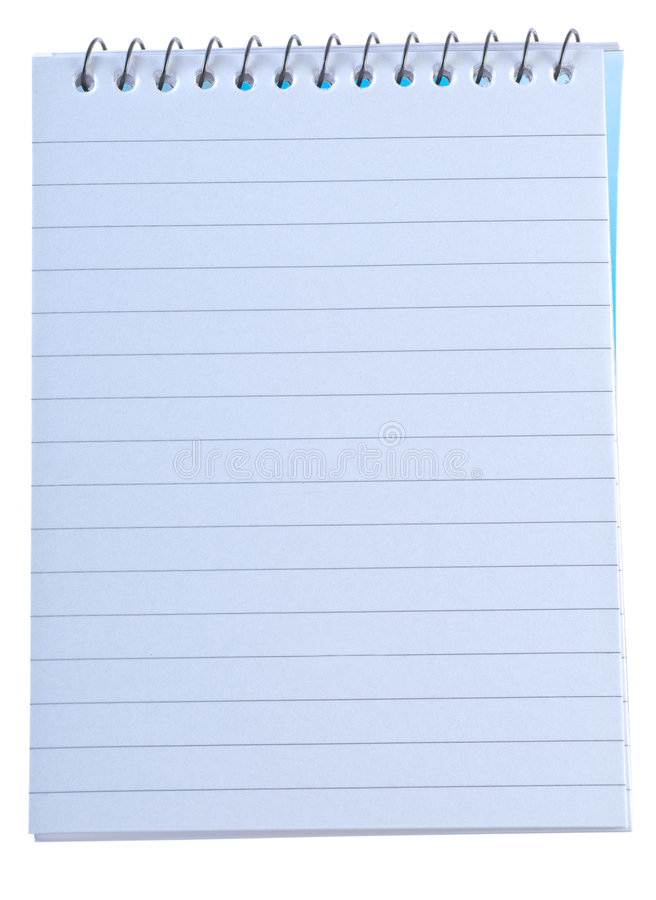 Download Writing Note Pad With Spiral Binding Royalty Free Stock Photo - Image: 4623185