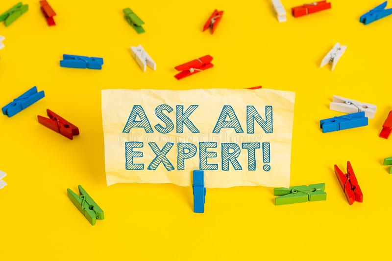 Writing note showing Ask An Expert. Business photo showcasing confirmation that have read understand and agree with. Writing note showing Ask An Expert. Business royalty free stock image