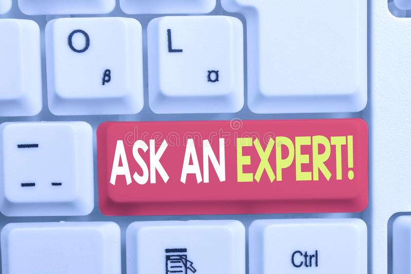 Writing note showing Ask An Expert. Business photo showcasing confirmation that have read understand and agree with. Writing note showing Ask An Expert. Business stock photography