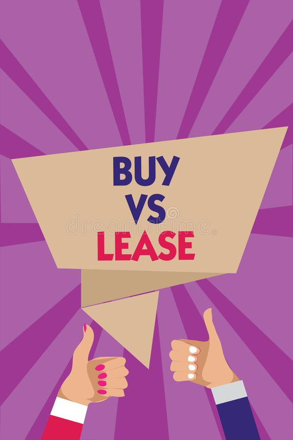 Lease vs buy research paper