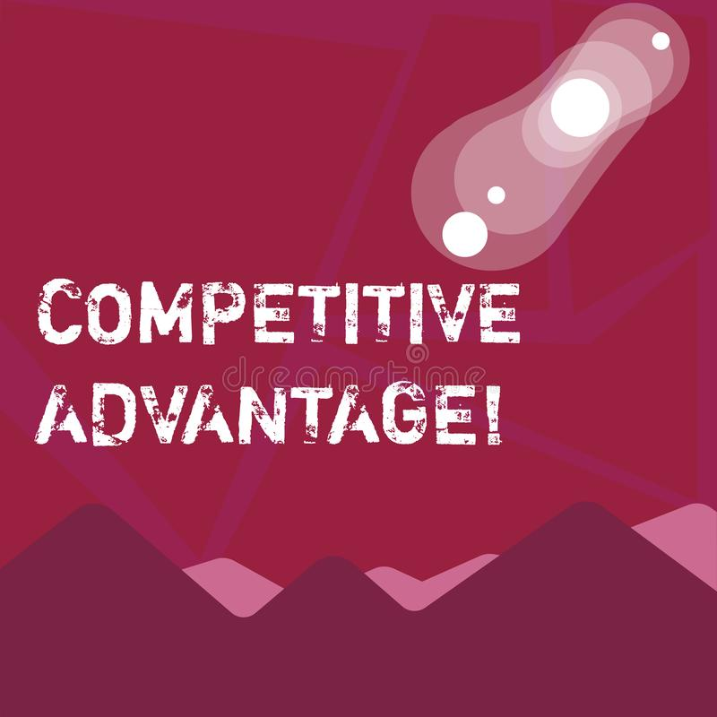 Writing note showing Competitive Advantage. Business photo showcasing owning quality that will assure you leading in. Writing note showing Competitive Advantage vector illustration